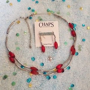 Bundle Necklace and earrings